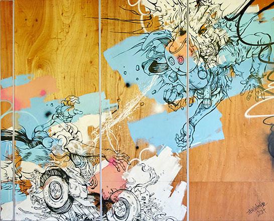 Felix Artwork Wall at Littlefield